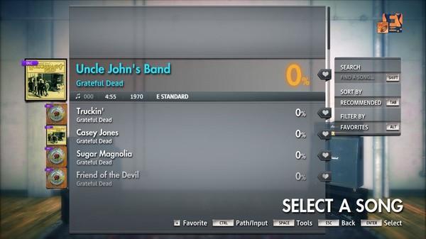 "Скриншот №4 к Rocksmith® 2014 Edition – Remastered – Grateful Dead - ""Uncle Johns Band"""