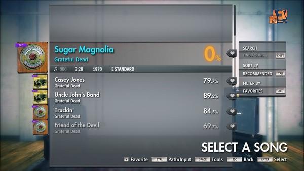 "Скриншот №4 к Rocksmith® 2014 Edition – Remastered – Grateful Dead - ""Sugar Magnolia"""