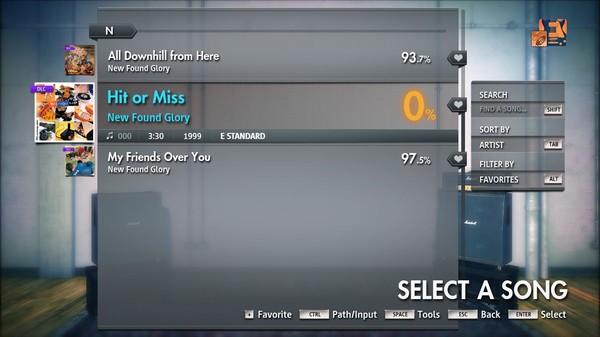"Скриншот №3 к Rocksmith® 2014 Edition – Remastered – New Found Glory - ""Hit or Miss"""