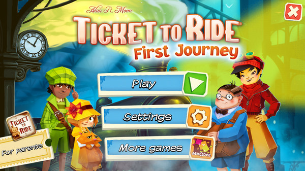 Скриншот №1 к Ticket to Ride First Journey