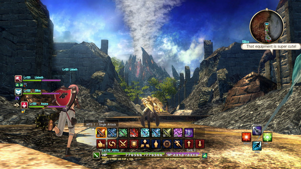 Скриншот №1 к Sword Art Online Hollow Realization Deluxe Edition