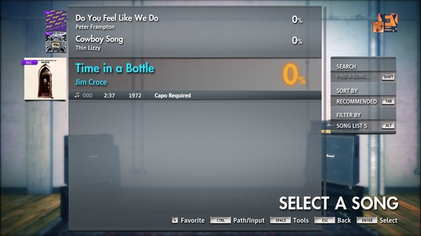 """Скриншот №3 к Rocksmith® 2014 Edition – Remastered – Jim Croce - """"Time in a Bottle"""""""