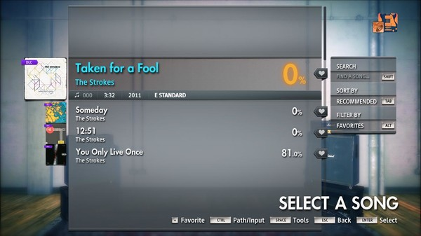 """Скриншот №2 к Rocksmith® 2014 Edition – Remastered – The Strokes - """"Taken for a Fool"""""""