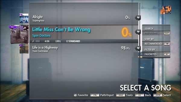"Скриншот №4 к Rocksmith® 2014 Edition – Remastered – Spin Doctors - ""Little Miss Cant Be Wrong"""