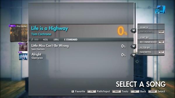 "Скриншот №3 к Rocksmith® 2014 Edition – Remastered – Tom Cochrane - ""Life is a Highway"""
