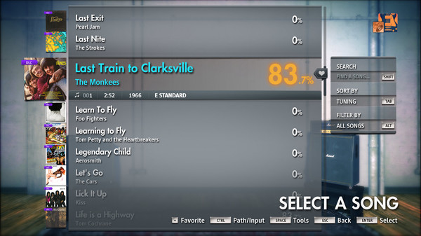 "Скриншот №1 к Rocksmith® 2014 Edition – Remastered – The Monkees - ""Last Train to Clarksville"""
