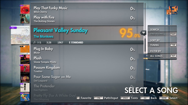 "Скриншот №2 к Rocksmith® 2014 Edition – Remastered – The Monkees - ""Pleasant Valley Sunday"""