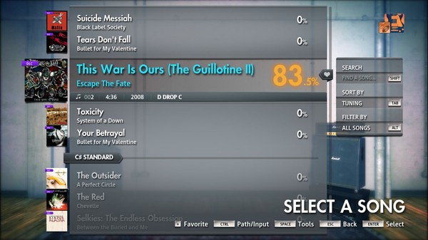 """Скриншот №2 к Rocksmith® 2014 Edition – Remastered – Escape The Fate - """"This War Is Ours The Guillotine II"""""""