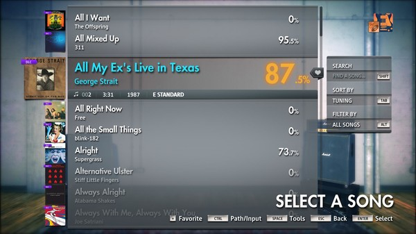 """Скриншот №4 к Rocksmith® 2014 Edition – Remastered – George Strait - """"All My Exs Live in Texas"""""""