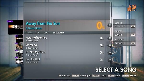 "Скриншот №4 к Rocksmith® 2014 Edition – Remastered – 3 Doors Down - ""Away from the Sun"""