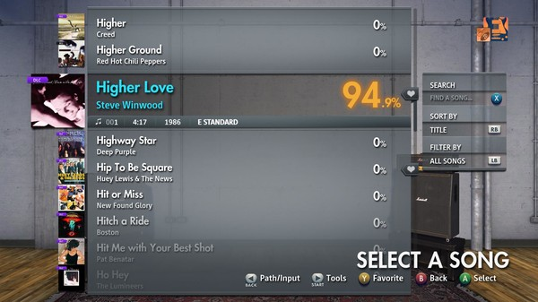 "Скриншот №3 к Rocksmith® 2014 Edition – Remastered – Steve Winwood - ""Higher Love"""