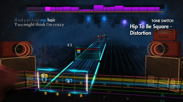 "Скриншот №1 к Rocksmith® 2014 Edition – Remastered – Huey Lewis  The News - ""Hip To Be Square"""