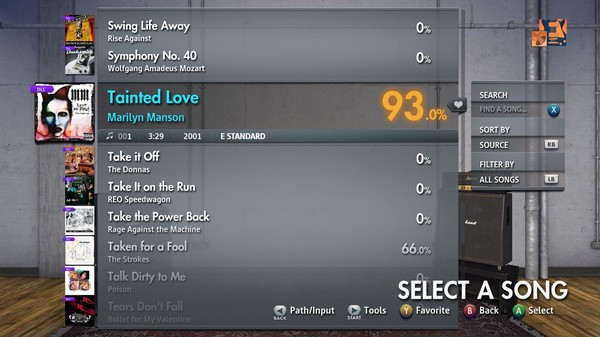 "Скриншот №5 к Rocksmith® 2014 Edition – Remastered – Marilyn Manson - ""Tainted Love"""