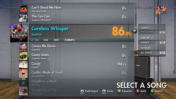 "Скриншот №4 к Rocksmith® 2014 Edition – Remastered – Seether - ""Careless Whisper"""
