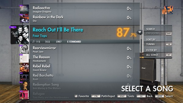 """Скриншот №2 к Rocksmith® 2014 Edition – Remastered – Four Tops - """"Reach Out Ill Be There"""""""