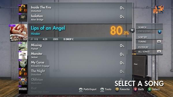 "Скриншот №4 к Rocksmith® 2014 Edition – Remastered – Hinder - ""Lips of an Angel"""