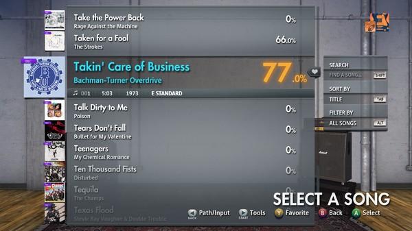 "Скриншот №2 к Rocksmith® 2014 Edition – Remastered – Bachman-Turner Overdrive - ""Takin Care of Business"""