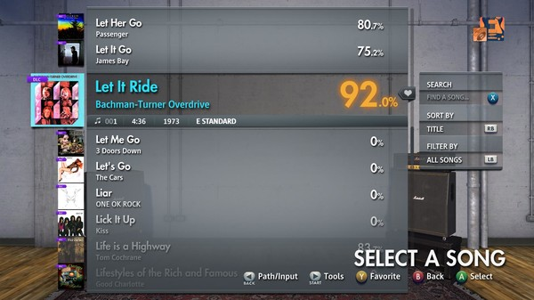 """Скриншот №5 к Rocksmith® 2014 Edition – Remastered – Bachman-Turner Overdrive - """"Let It Ride"""""""