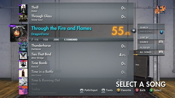 "Скриншот №1 к Rocksmith® 2014 Edition – Remastered – DragonForce - ""Through the Fire and Flames"""