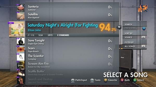 "Скриншот №5 к Rocksmith® 2014 Edition – Remastered – Elton John - ""Saturday Nights Alright For Fighting"""