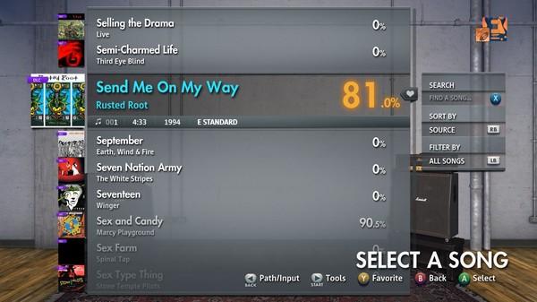 "Скриншот №4 к Rocksmith® 2014 Edition – Remastered – Rusted Root - ""Send Me On My Way"""