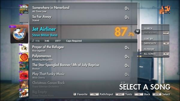 """Скриншот №3 к Rocksmith® 2014 Edition – Remastered – Steve Miller Band - """"Jet Airliner"""""""
