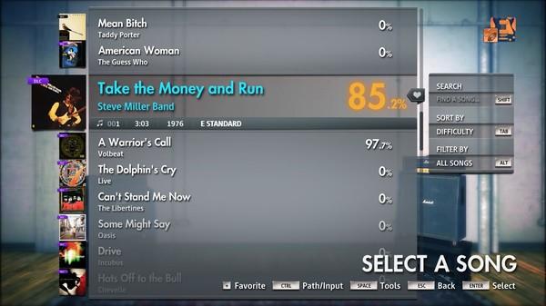 "Скриншот №1 к Rocksmith® 2014 Edition – Remastered – Steve Miller Band - ""Take the Money and Run"""