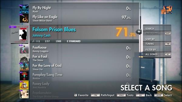 "Скриншот №2 к Rocksmith® 2014 Edition – Remastered – Johnny Cash - ""Folsom Prison Blues"""