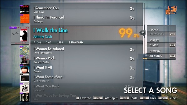 "Скриншот №2 к Rocksmith® 2014 Edition – Remastered – Johnny Cash - ""I Walk the Line"""