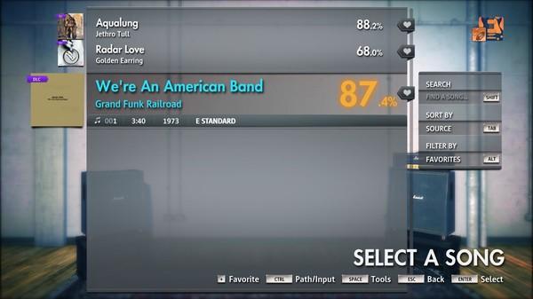"Скриншот №2 к Rocksmith® 2014 Edition – Remastered – Grand Funk Railroad - ""Were An American Band"""