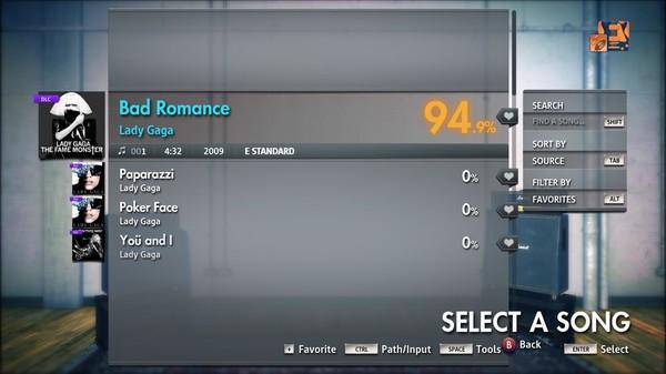 "Скриншот №3 к Rocksmith® 2014 Edition – Remastered – Lady Gaga - ""Bad Romance"""