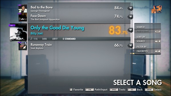 """Скриншот №1 к Rocksmith® 2014 Edition – Remastered – Billy Joel - """"Only the Good Die Young"""""""