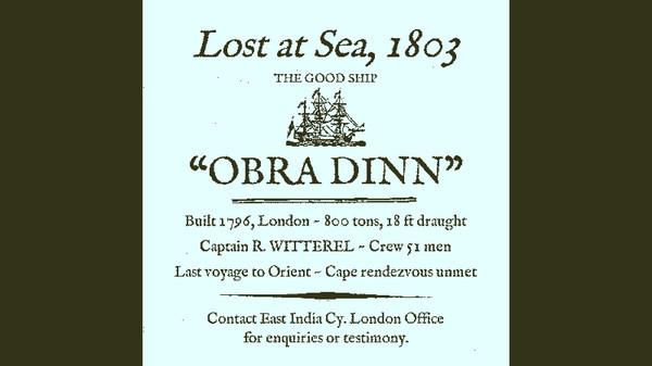 Скриншот №1 к Return of the Obra Dinn