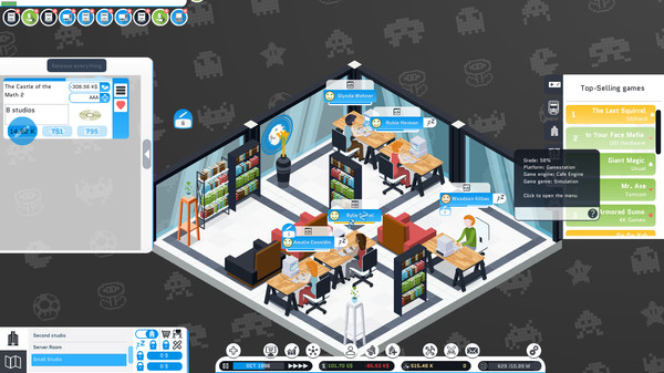 Скриншот №9 к City Game Studio a tycoon about game dev