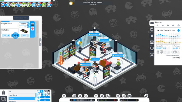 Скриншот №5 к City Game Studio a tycoon about game dev
