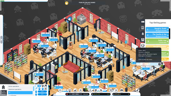 Скриншот №19 к City Game Studio a tycoon about game dev