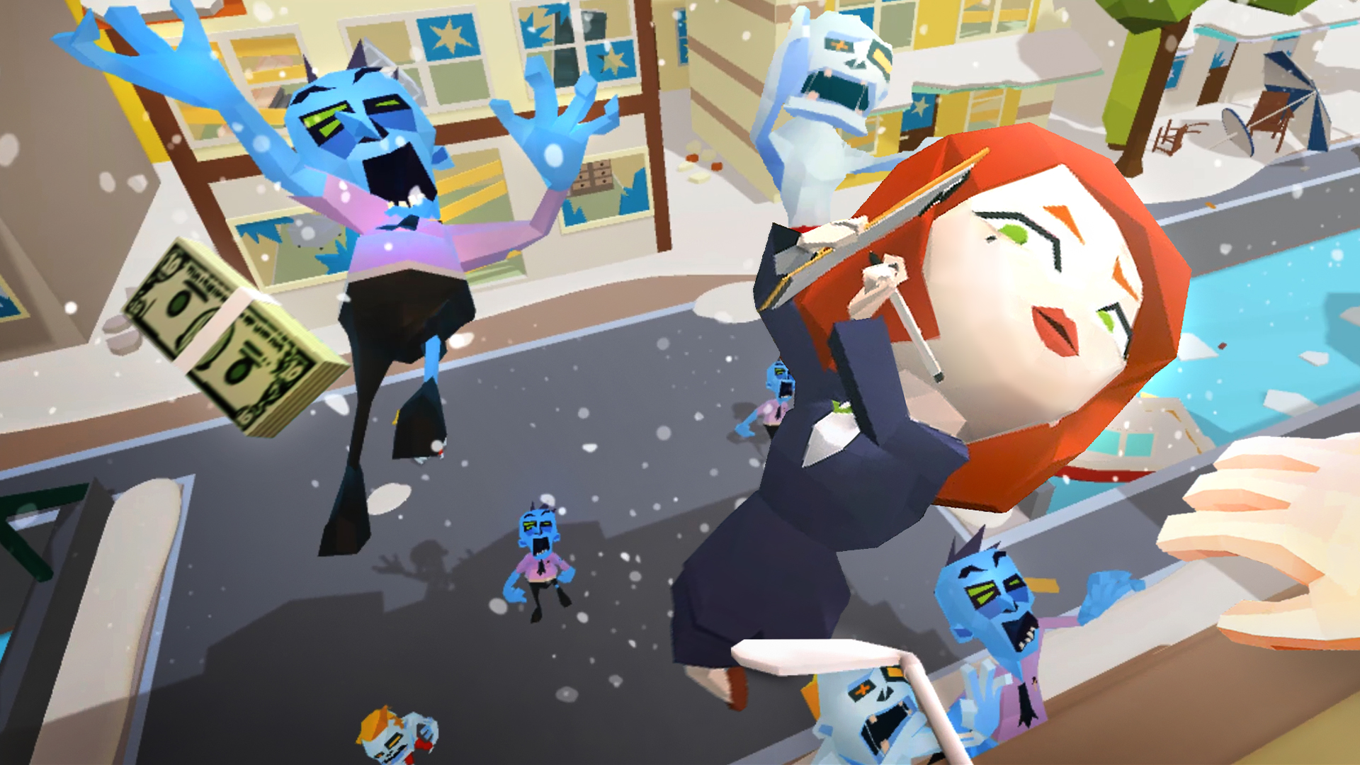 Oculus Quest 游戏《Throw Anything》扔东西砸僵尸插图
