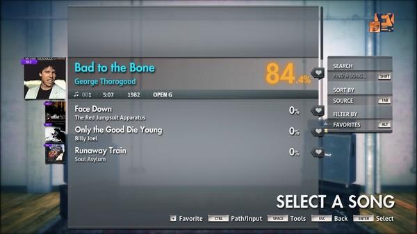 "Скриншот №2 к Rocksmith® 2014 Edition – Remastered – George Thorogood - ""Bad to the Bone"""