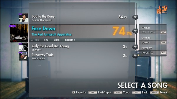 "Скриншот №5 к Rocksmith® 2014 Edition – Remastered – The Red Jumpsuit Apparatus - ""Face Down"""