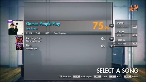 "Скриншот №1 к Rocksmith® 2014 Edition – Remastered – Joe South - ""Games People Play"""