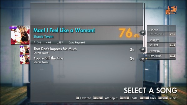 "Скриншот №3 к Rocksmith® 2014 Edition – Remastered – Shania Twain - ""Man! I Feel Like a Woman!"""