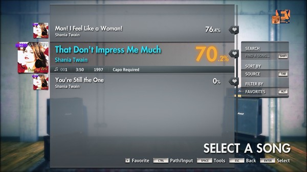 "Скриншот №3 к Rocksmith® 2014 Edition – Remastered – Shania Twain - ""That Dont Impress Me Much"""