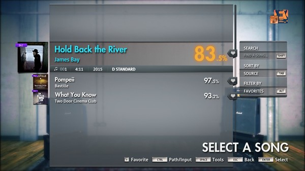 "Скриншот №3 к Rocksmith® 2014 Edition – Remastered – James Bay - ""Hold Back the River"""