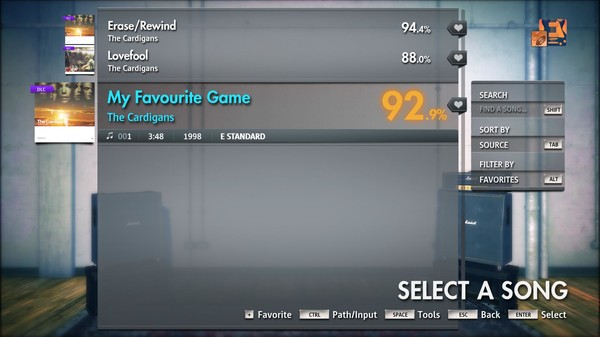 """Скриншот №2 к Rocksmith® 2014 Edition – Remastered – The Cardigans - """"My Favourite Game"""""""