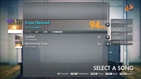 "Скриншот №4 к Rocksmith® 2014 Edition – Remastered – The Cardigans - ""EraseRewind"""