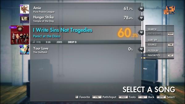 "Скриншот №1 к Rocksmith® 2014 Edition – Remastered – Panic! at the Disco - ""I Write Sins Not Tragedies"""