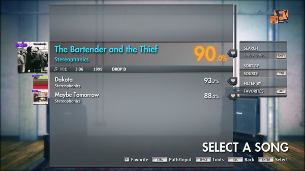 """Скриншот №2 к Rocksmith® 2014 Edition – Remastered – Stereophonics - """"The Bartender and the Thief"""""""
