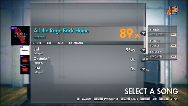 "Скриншот №3 к Rocksmith® 2014 Edition – Remastered – Interpol - ""All The Rage Back Home"""