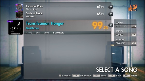 "Скриншот №1 к Rocksmith® 2014 Edition – Remastered – Darkthrone - ""Transilvanian Hunger"""