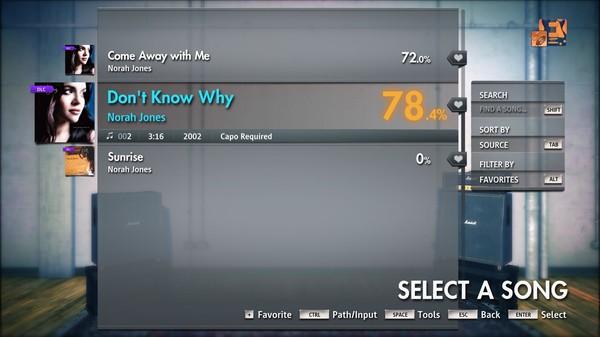 "Скриншот №3 к Rocksmith® 2014 Edition – Remastered – Norah Jones - ""Dont Know Why"""